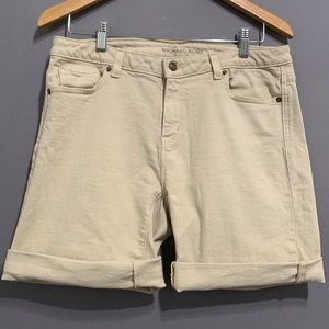 Michael Kors • Women's Tan Denim Bermuda Shorts